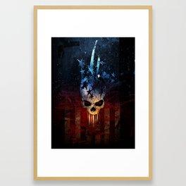 America Skull Framed Art Print