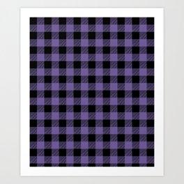 Purple Buffalo Plaid Art Print