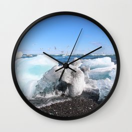 Glistening Ice Wall Clock