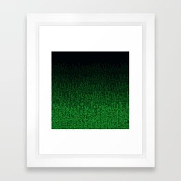 Reboot II GREEN Framed Art Print