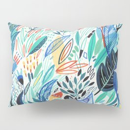 Jungle Leaves Pillow Sham