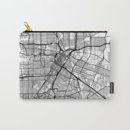 Houston Map White Carry-All Pouch
