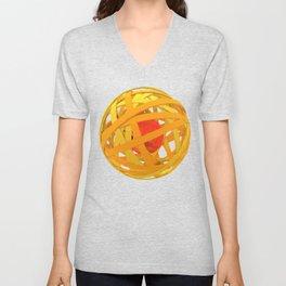 Orange spheres Unisex V-Neck