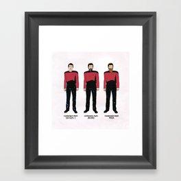 Stages of Riker Framed Art Print