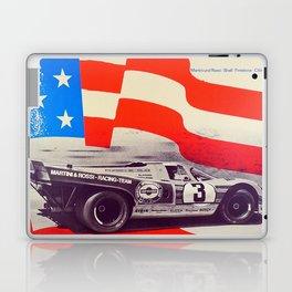 Vintage USA Racing Poster Laptop & iPad Skin