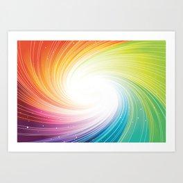 Rainbow background Art Print