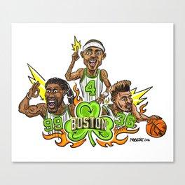 Fire it up! Boston #Basketball– #IsaiahThomas #JaeCrowder #MarcusSmart Canvas Print