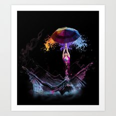 Raining Paint Art Print