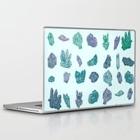 minerals Laptop & iPad Skins featuring Mystical Minerals by Hannah Margaret Illustrations