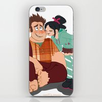 wreck it ralph iPhone & iPod Skins featuring Ralph & Vanellope by Violet's Corner