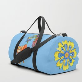 Classy Cat Chloe (Blue) Duffle Bag