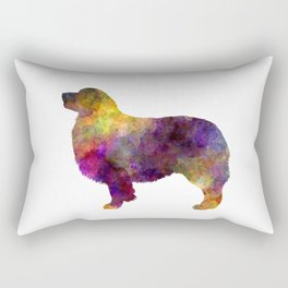 Australian Shepherd 01 in watercolor -3 Rectangular Pillow