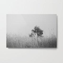 Black & White nature print Metal Print