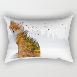 Wild I Shall Stay | Fox Rectangular Pillow