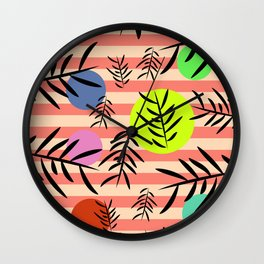 Happy leaf fall Wall Clock