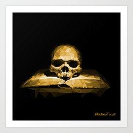 Memento mori - california sun Art Print