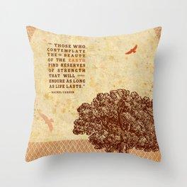 Strength Beautiful Earth Rustic Birds Throw Pillow