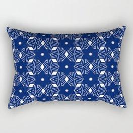 Shibori Stars (white and dark blue) Rectangular Pillow