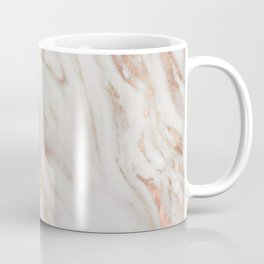 Rose Gold and White Marble 1 Coffee Mug