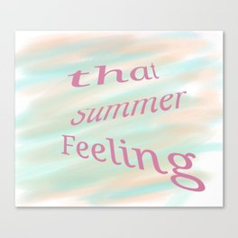 that summer feeling Canvas Print
