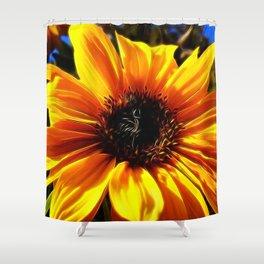 Sunflower Glow by Mandy Ramsey, Haines Alaska Shower Curtain