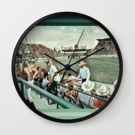 Rodeo Hitchin' Wall Clock