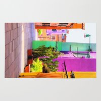 street Area & Throw Rugs featuring street by Asano Kitamura