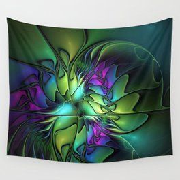 Colorful And Abstract Fractal Fantasy Wall Tapestry