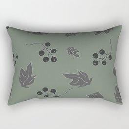 Seamless pattern with floating leaves on the wind Rectangular Pillow