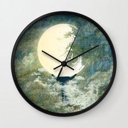 Moon Light Wall Clock