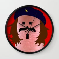 che Wall Clocks featuring che by Panic Junkie