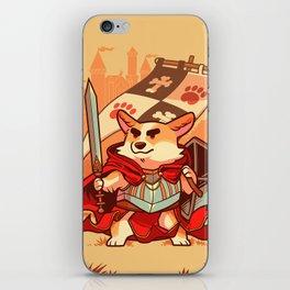 Corgi knight iPhone Skin