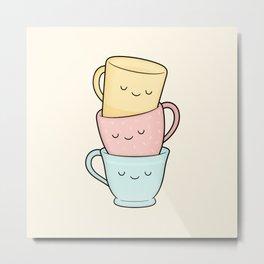 Tea? Teacups! Metal Print