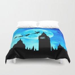 Magical Watercolor Night - Peter Pan Duvet Cover