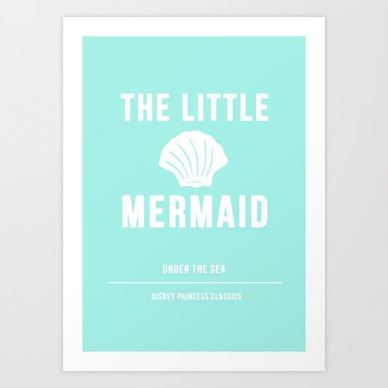 Disney Princesses: The Little Mermaid Minimalist Art Print