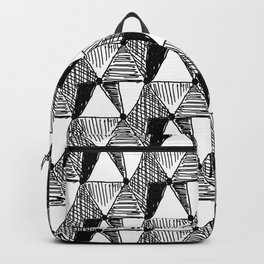 Vintage Diamond Pattern Backpack
