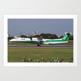 All Nippon Airways - ANA De Havilland Canada DHC-8-402Q Dash 8 Art Print