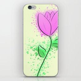 Minimalist Purple Flower iPhone Skin