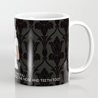 scandal Mugs featuring A Scandal in Belgravia - Irene Adler by MacGuffin Designs