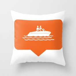 I like boating! Throw Pillow