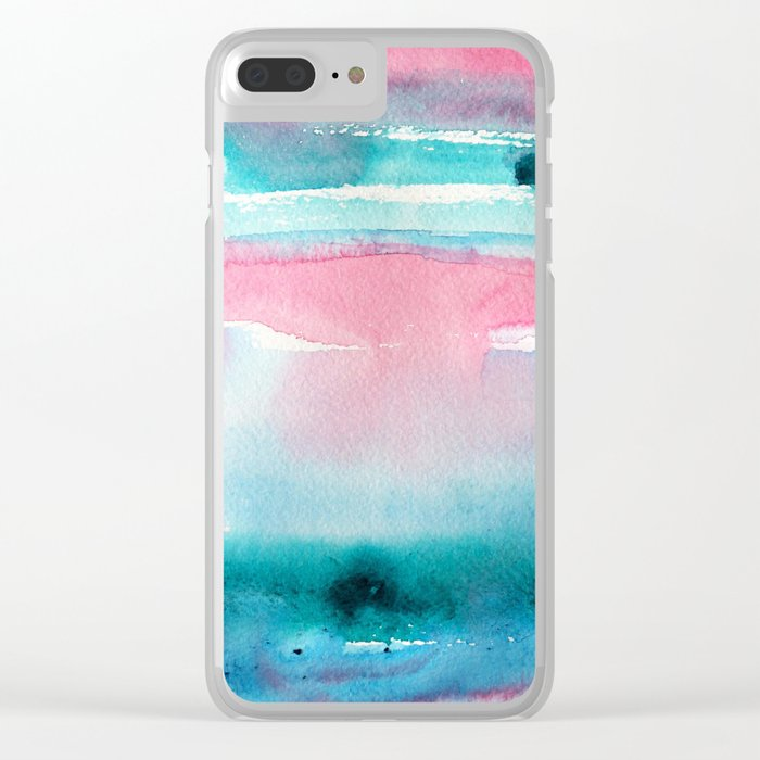 Turquoise love Clear iPhone Case