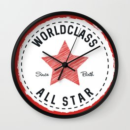 Worldclass All Star Wall Clock