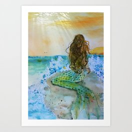 Final Joy Mermaid Art Print