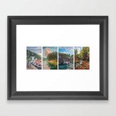 Black Hills Four Seasons Framed Art Print