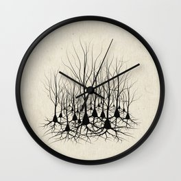 Pyramidal Neuron Forest Wall Clock
