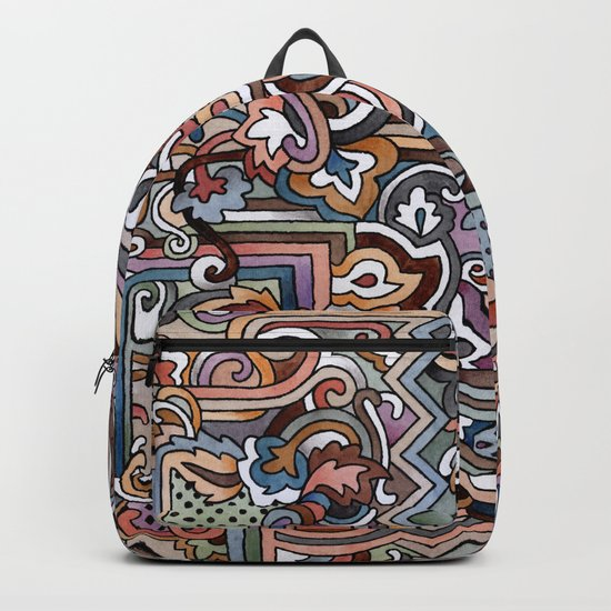 Rayas y rulos Backpack