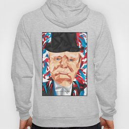 Portrait of Sir Winston Churchill Hoody