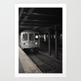 Trains' a comin' Art Print
