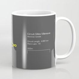 F1 Circuit Infographic- Circuit de Gilles Villeneuve, Montreal, Canada Coffee Mug