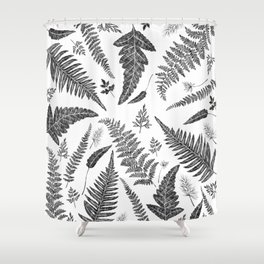 Ferns Pattern Shower Curtain